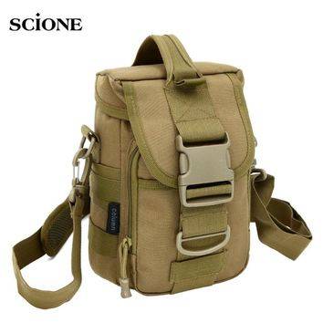 Tactical Military Small Shoulder Bags Utility Pouch Pack Army Molle Sport Crossbody Vertical Outdoor Camping Hunting Bag XA173WA