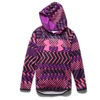 Under Armour Girls' UA Armour Fleece Printed Big Logo Hoodie