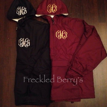 Monogrammed Pullover Charles River flannel lined
