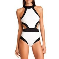Your Gallery Women's Sexy New Cutout One Piece High Neck Bikini Beachwear