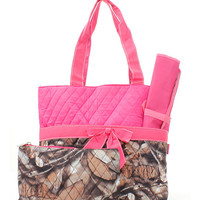 Quilted Natural Camo Diaper Bag