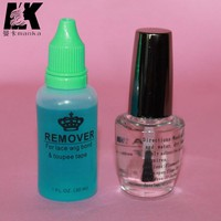 0.5 OZ/ 15ml lace hair wig glue+ 30ml remover for Lace Wig or hair Glue adhesive with super adhesive glue for lace wig