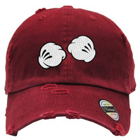 boxing dope hand Embroidered Distressed Baseball hat