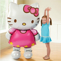Hello Kitty Cat foil balloons cartoon birthday decoration party inflatable air balloons