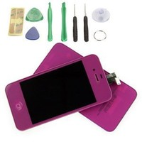 Purple LCD Touch Screen Digitizer Glass Assembly For iPhone iPhone 4 iPhone 4 GSM ATT only(Not for 4S or Verizon)