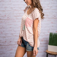 Go For A Dip Top, Pink