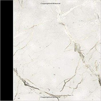 "JOURNAL: with "" white marble & silver vain ""on this trendy 7.5"" X 9.25"" 150 pages 