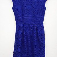 Crochet High Low Dress