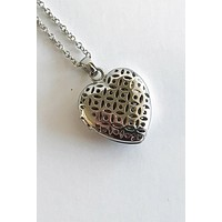 The Moment Of Love Silver Heart Perfume Necklace