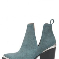 Jeffrey Campbell Shoes CROMWELL Heels in Green Sanded Suede