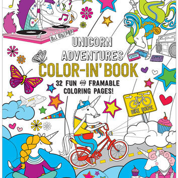 International Arrivals Color-in' Unicorn Adventures Book