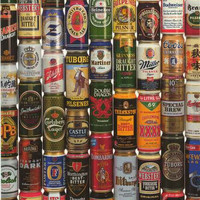 Import Beer Cans Poster 24x36