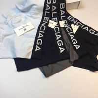 Balenciaga Fashion 4 Pairs of Men's Underwear Style #674