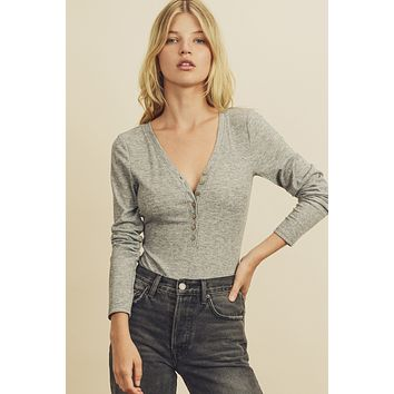 On My Way Bodysuit - Heather Grey