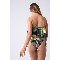 Tie Side Metal Bikini Bottom - Bananeira Tropical Print