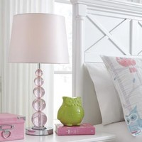 L857664 Letty Crystal Table Lamp (1/Cn) Pink Free Shipping!
