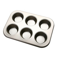 Stainless Iron Nonstick Baking Pan Tray Tin Cup Cakes Muffin Bun Mold Cookie Making Tool