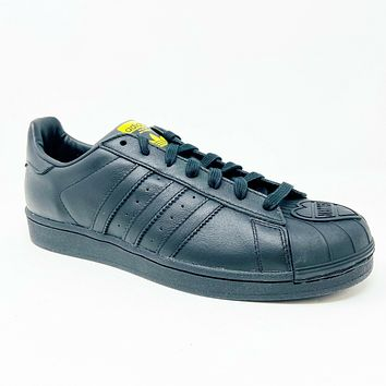 Adidas Superstar Pharrell Williams Supershell Black Yellow S83345 Mens Leather