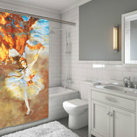 """BenandJonah Collection Fabric Shower Curtain 70 x 72"""" The Star Paint"""