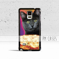 Galaxy Cat Pizza Pie Obsession Case Cover for Samsung Galaxy S3 S4 S5 S6 Edge Active Mini or Note 1 2 3 4 5