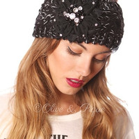 Knitted Bling Headwrap - Multiple Colors Available