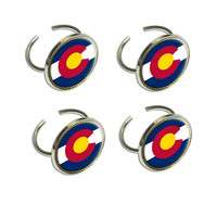 Colorado State Flag Napkin Ring Set