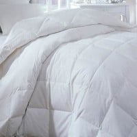 OVER-SIZED FOR PILLOWTOP-HIGH QUALITY-DOWN AND FEATHER- 95/5 - THICK HEAVY FILL - COMFORTER