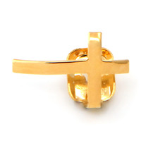 14K Gold Cross Single Tooth Cap Grillz