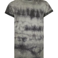 Washed Khaki Muscle Fit Roller T-Shirt | Topman