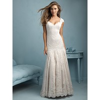 Allure Bridals 9208 Lace Fit and Flare Sample Sale Wedding Dress (ONLINE ONLY)