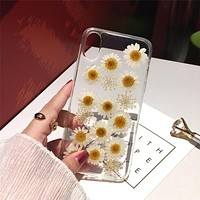 Dried Flower Handmade Soft iPhone Cases