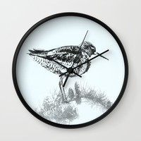 A Bird from Iceland Wall Clock by Avahunt