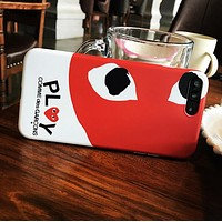 """Comme des garçon play"" Trending Stylish Cute Heart-Shaped Eyes Soft Mobile Phone Cover Case For iphone 6 6s 6plus 6s-plus 7 7plus 8 8plus X XSMax XR"