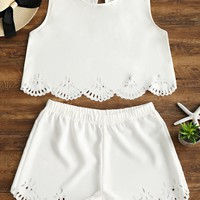 CUT IT OUT SHORTS SET