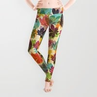 Autumn leaves Leggings by Fimbis
