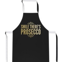 Smile Theres Prosecco GOLD Drink Party Gift Mothers Day Cook APRON Tabard A35   eBay