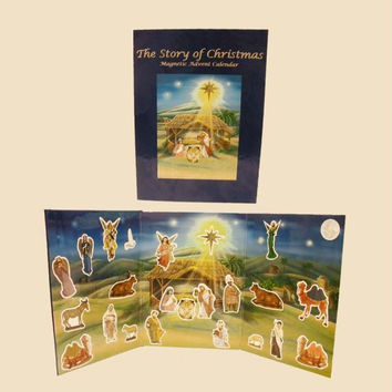 5 Advent Calendars - Each Book Includes 24 Magnetic Figures