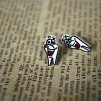 Wisdom Tooth Earrings -- Tooth Studs, Earrings for Dentists