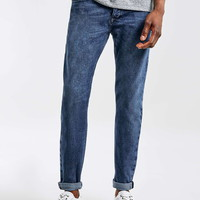 Mid Wash Stretch Skinny Selvedge Jeans