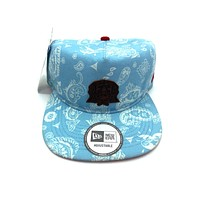 New Era x Secret Society Light Blue Flag Eye Logo Strapback Hat LightBlue