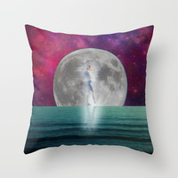 Passing Shadow Throw Pillow by Shawn King