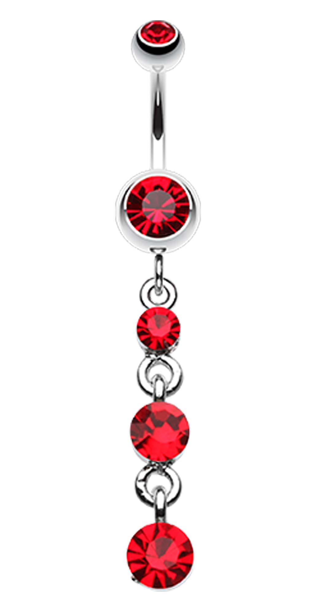 Image of Glass-Gems Galore Belly Button Ring