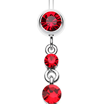 Glass-Gems Galore Belly Button Ring