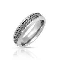 Bling Jewelry Cable Core Ring