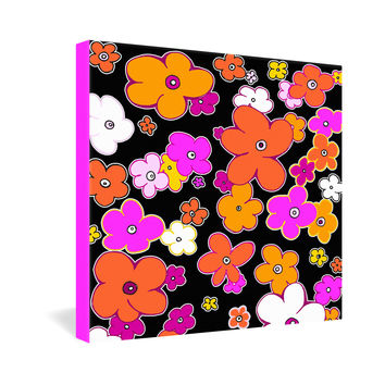 Madart Inc. Puffy Flower Orange Pink Gallery Wrapped Canvas