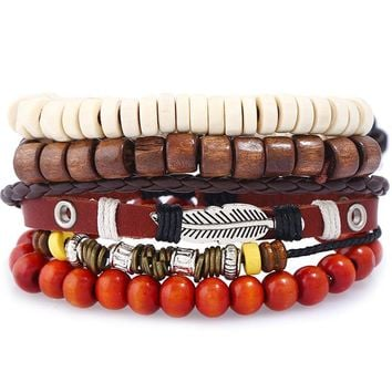 Awesome New Arrival Hot Sale Great Deal Gift Shiny Stylish Set Leather Bracelet [250988462109]
