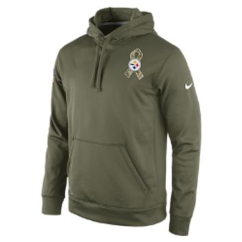Nike Salute to Service KO Pullover (NFL Steelers) Men's Training Hoodie: Size Small (Green)
