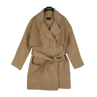 Cinched Cape Trench Coat