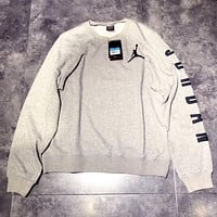 Jordan Woman Men Fashion Embroidery Sport Top Sweater Pullover