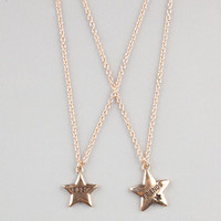 2 Piece Star Best Friends Necklaces Set Gold One Size For Women 22525362101